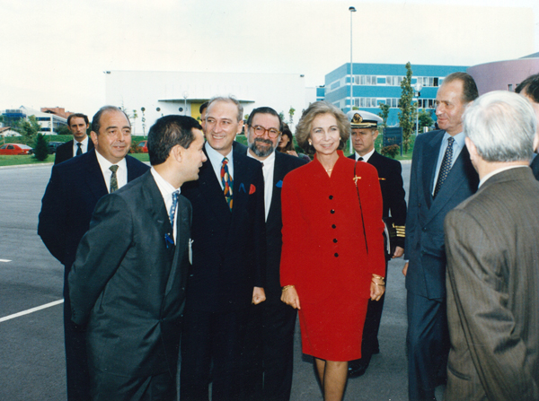 Visit of the King Juan Carlos I and the Queen Sofia